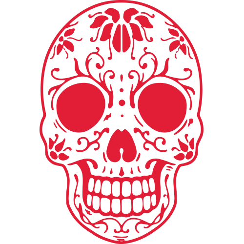 Cactus Modern Mexican & Cantina | Lincoln, NE | red day of the dead skull icon
